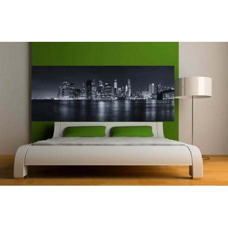 stickers t te de lit d co new york n b art d co stickers. Black Bedroom Furniture Sets. Home Design Ideas