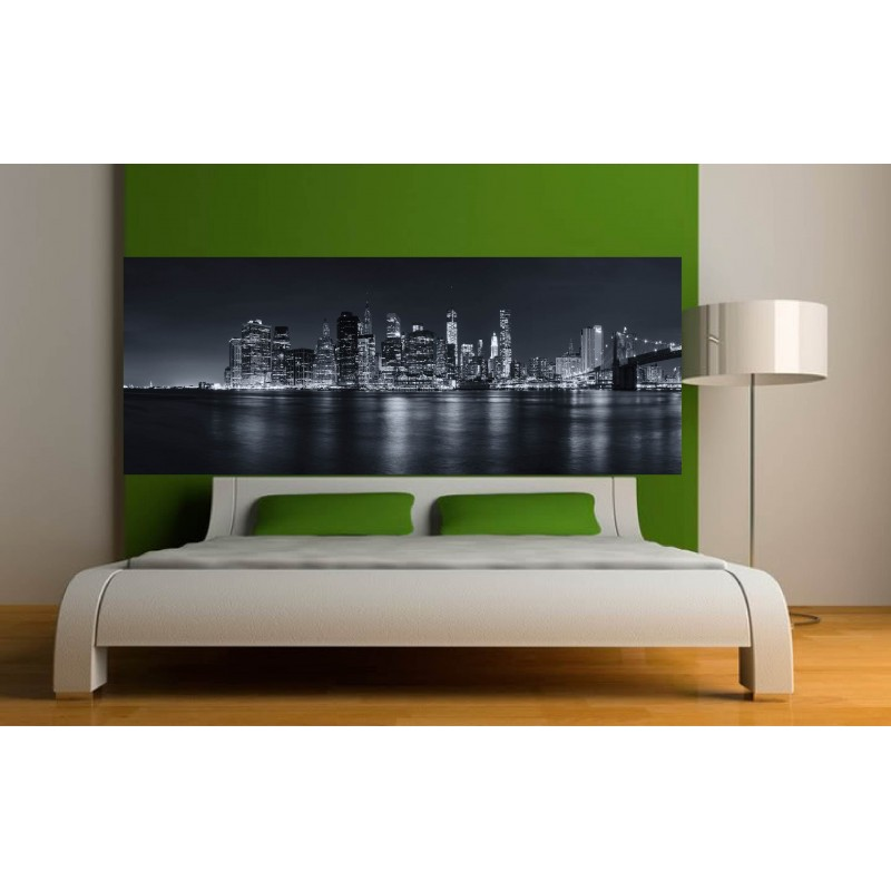 stickers t te de lit d co new york n b art d co stickers. Black Bedroom Furniture Sets. Home Design Ideas