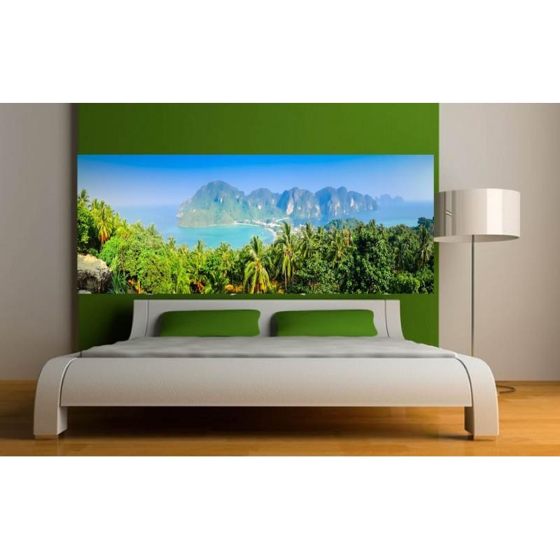 stickers t te de lit d co paysage art d co stickers. Black Bedroom Furniture Sets. Home Design Ideas