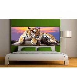 Stickers tête de lit déco Tigre