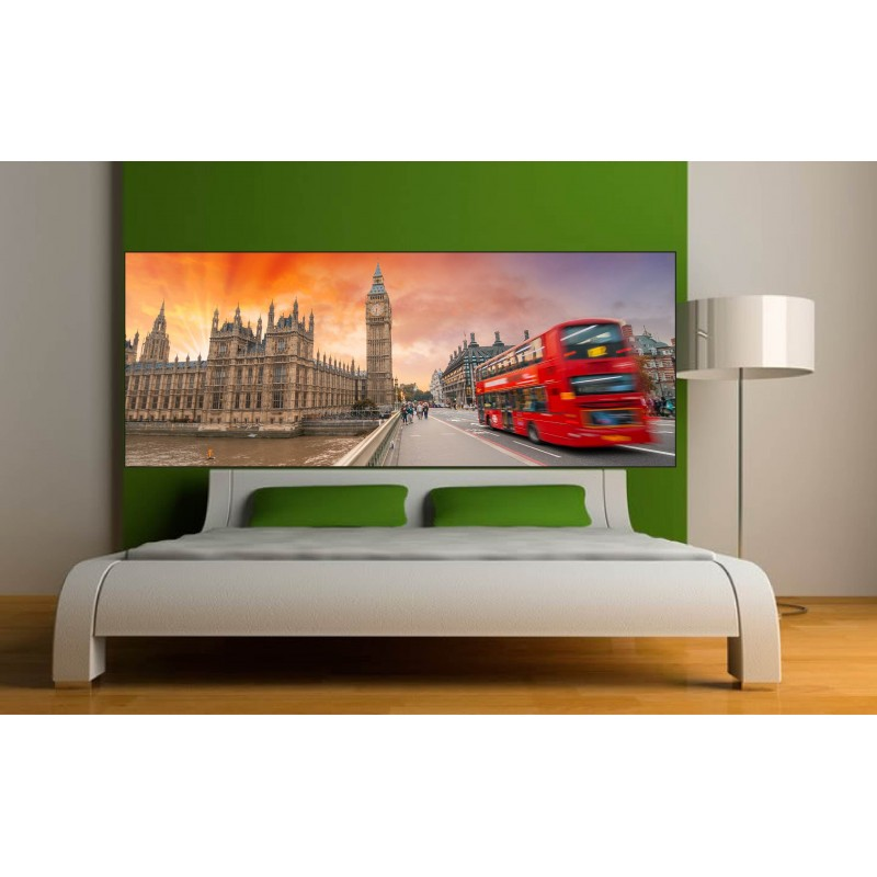 stickers t te de lit d co londres bus art d co stickers. Black Bedroom Furniture Sets. Home Design Ideas