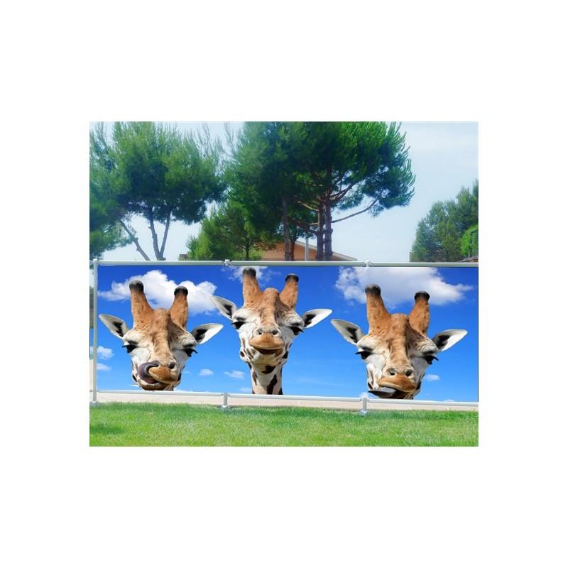 brise vue imprim d co girafes art d co stickers. Black Bedroom Furniture Sets. Home Design Ideas