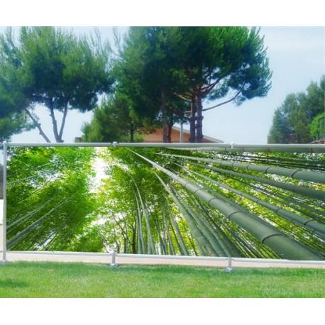 Brise vue imprimé déco Bambous - Art Déco Stickers