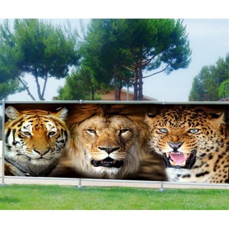 brise vue imprim d co animaux sauvages art d co stickers. Black Bedroom Furniture Sets. Home Design Ideas
