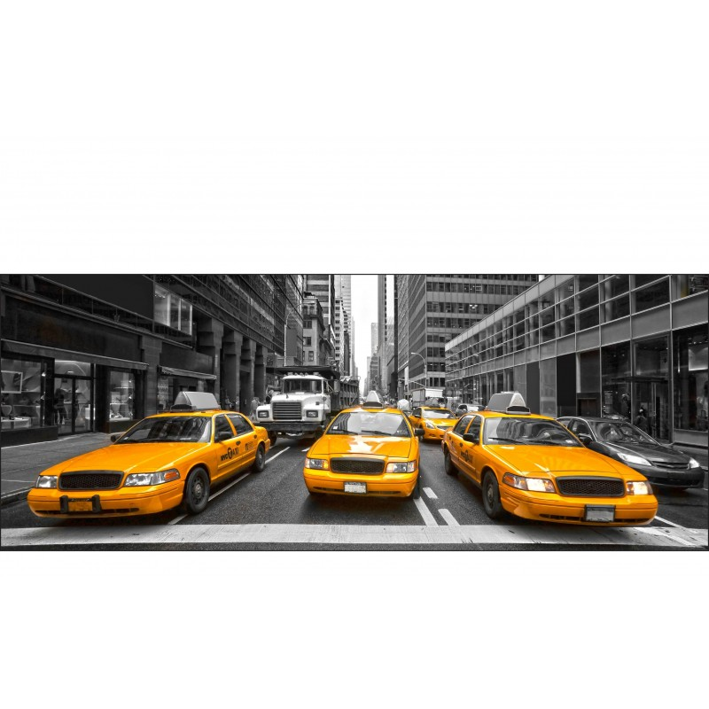 brise vue imprim d co new york taxi art d co stickers. Black Bedroom Furniture Sets. Home Design Ideas