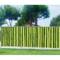 Brise vue imprimé déco Bambous