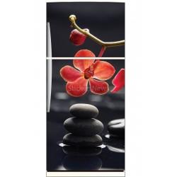 Stickers frigo déco cuisine Orchidée
