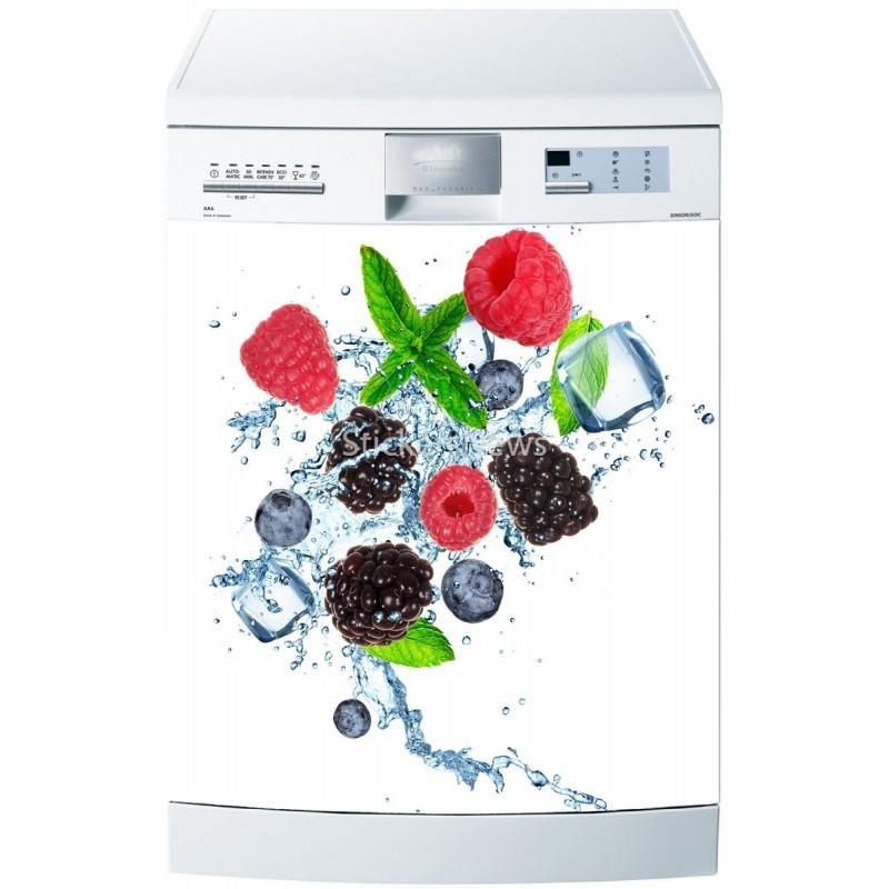 Stickers lave vaisselle fruits ou magnet lave vaisselle for Mon lave vaisselle fuit