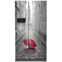 Stickers frigo américain parapluie Tour Eiffel