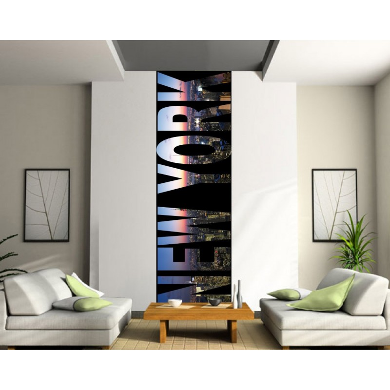 papier peint l unique new york art d co stickers. Black Bedroom Furniture Sets. Home Design Ideas