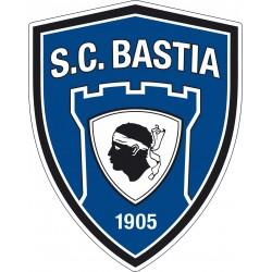 Stickers foot Autocollant SC Bastia