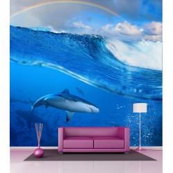 Papier peint grande largeur Requin 2,5x2,5 m