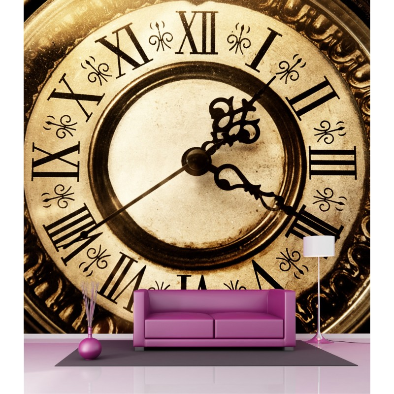 papier peint grande largeur horloge 2 5x2 5 m art d co stickers. Black Bedroom Furniture Sets. Home Design Ideas
