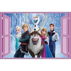 Stickers fenêtre enfant Frozen La reine des neiges