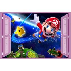 Stickers fenêtre enfant Mario Galaxy