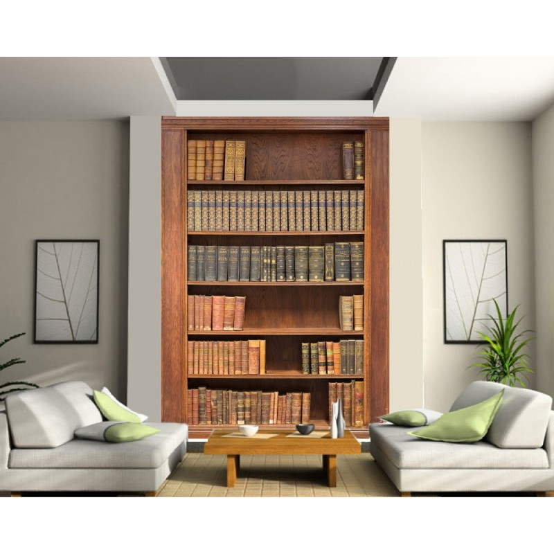 papier peint grande largeur biblioth que art d co stickers. Black Bedroom Furniture Sets. Home Design Ideas