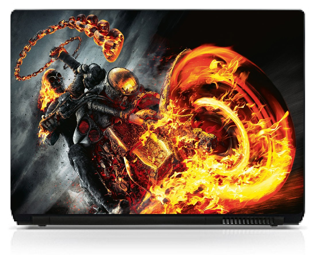 Stickers pc ordinateur portable ghost rider art déco stickers