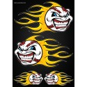Stickers autocollants Moto Flames Baseball Format A3