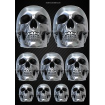 Stickers autocollants Moto Skull Format A3