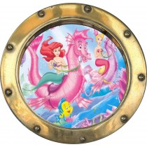 Sticker hublot enfant Ariel