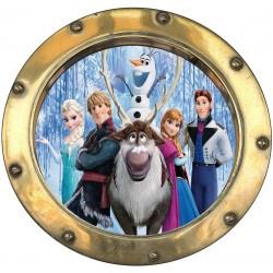 Sticker hublot enfant La reine des neiges