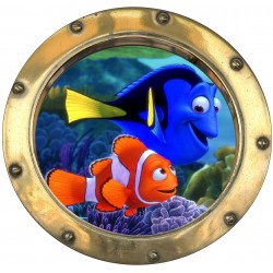 Sticker hublot enfant Nemo