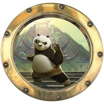 Sticker hublot enfant Kun fu Panda