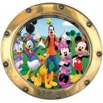 Sticker hublot enfant Mickey et sa bande d'amis