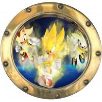 Sticker hublot enfant Sonic