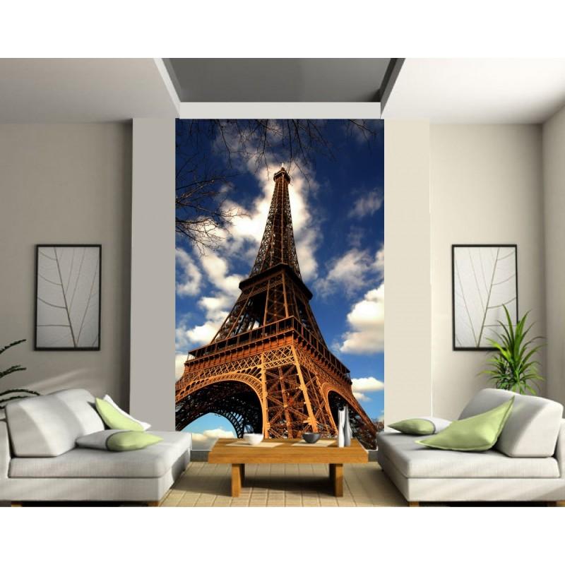 papier peint grande largeur tour eiffel art d co stickers. Black Bedroom Furniture Sets. Home Design Ideas