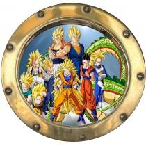 Sticker hublot enfant Dragon Ball Z