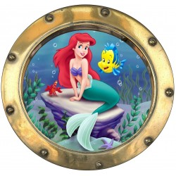 Sticker hublot enfant La Petite Sirene