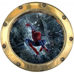 Sticker hublot enfant Spiderman