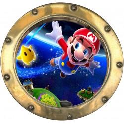 Sticker hublot enfant Mario