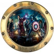 Sticker hublot enfant Avengers