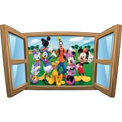 Sticker enfant fenêtre Mickey et ses amis
