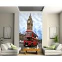 Papier peint déco grande largeur Londres Bus