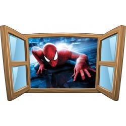 Sticker enfant fenêtre Spiderman