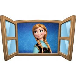 Sticker enfant fenêtre La Reine des Neiges