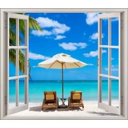 Stickers fenêtre déco Sous les tropiques