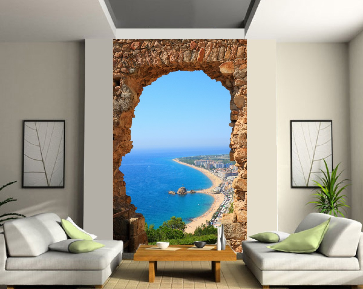 Poster mural geant zen stunning simple poster mural grand format trompe l oeil wall murals you - Trompe l oeil mural grand format ...