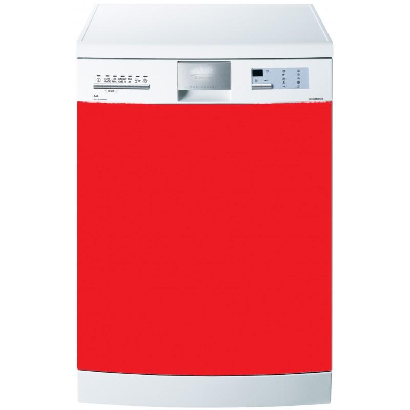 stickers lave vaisselle uni couleur rouge art d co stickers. Black Bedroom Furniture Sets. Home Design Ideas