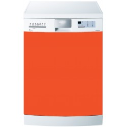 Stickers Lave Vaisselle Uni couleur Orange