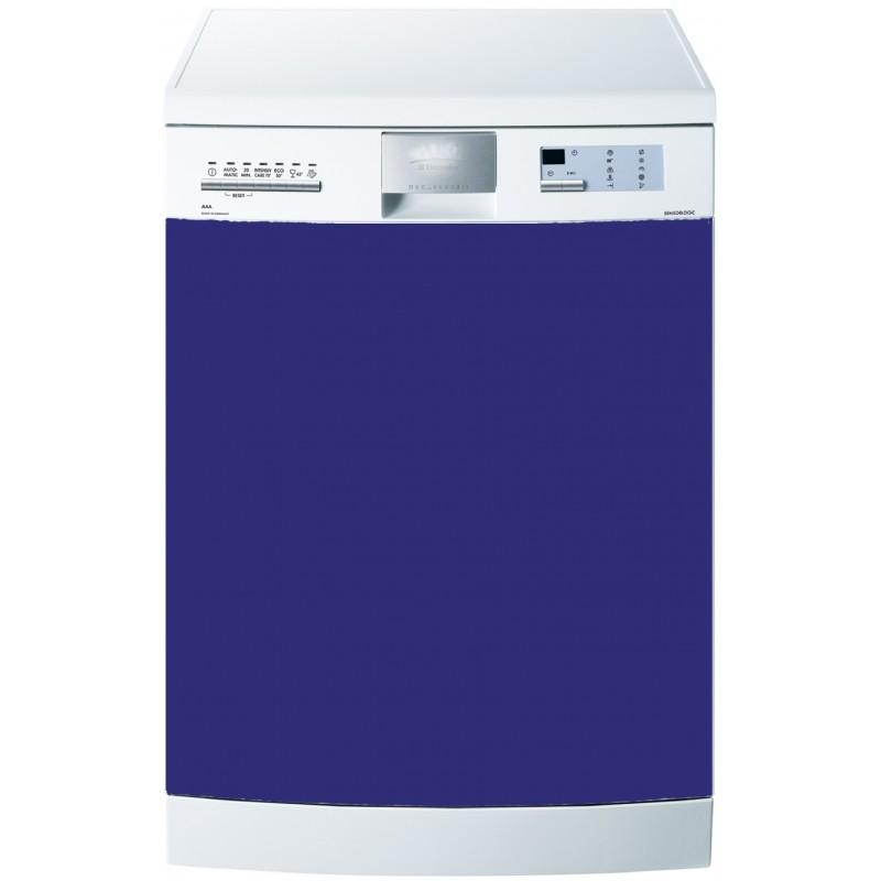 stickers lave vaisselle uni couleur bleu art d co stickers. Black Bedroom Furniture Sets. Home Design Ideas