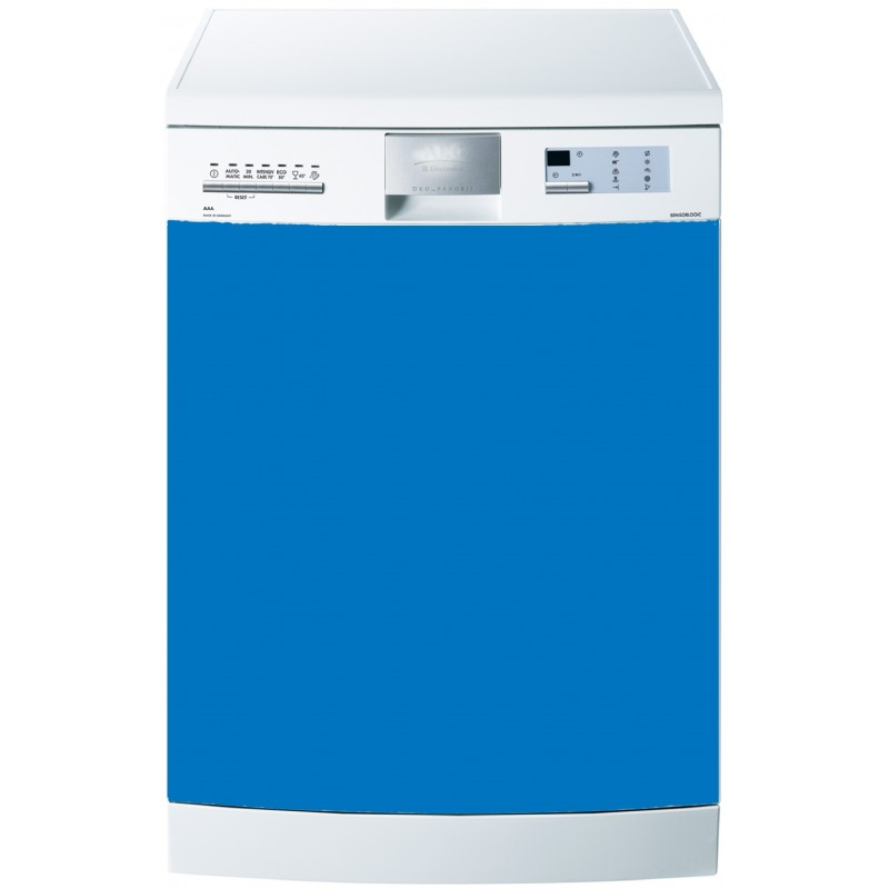 stickers lave vaisselle uni couleur bleu clair art d co. Black Bedroom Furniture Sets. Home Design Ideas