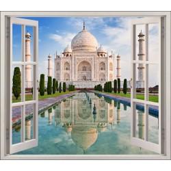 Stickers fenêtre déco Le Taj Mahal