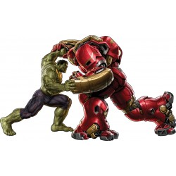stickers enfant Hulk vs Hulkbuster Iron Man