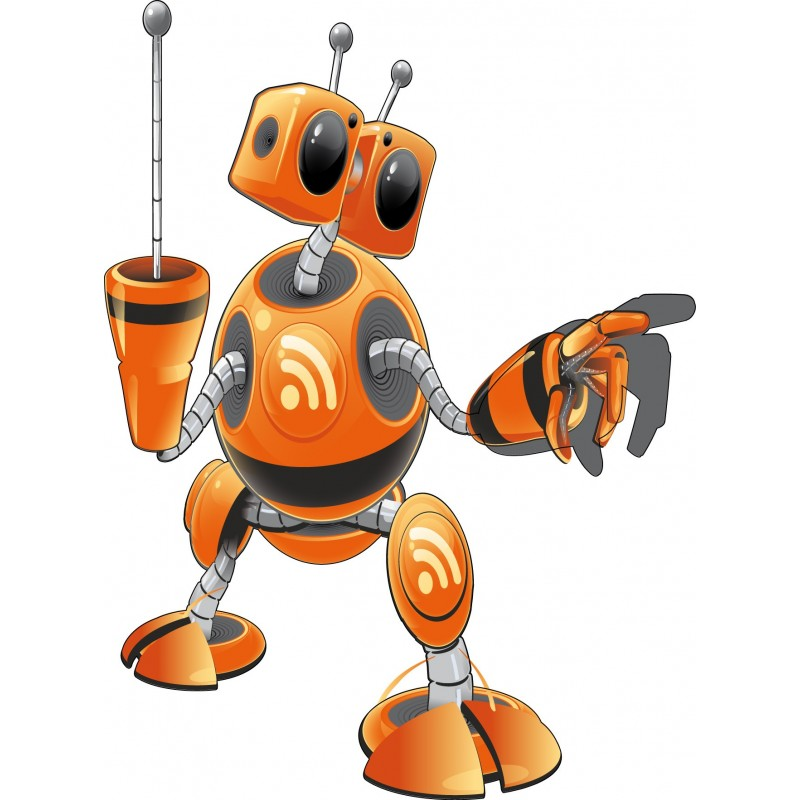 Sticker enfant robot art d co stickers for Decoration chambre robot