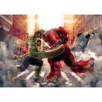 Stickers géant Hulk VS Hulbuster