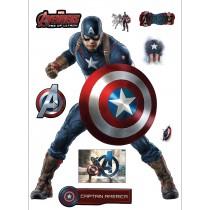 Stickers Captain america Avengers 29x40cm